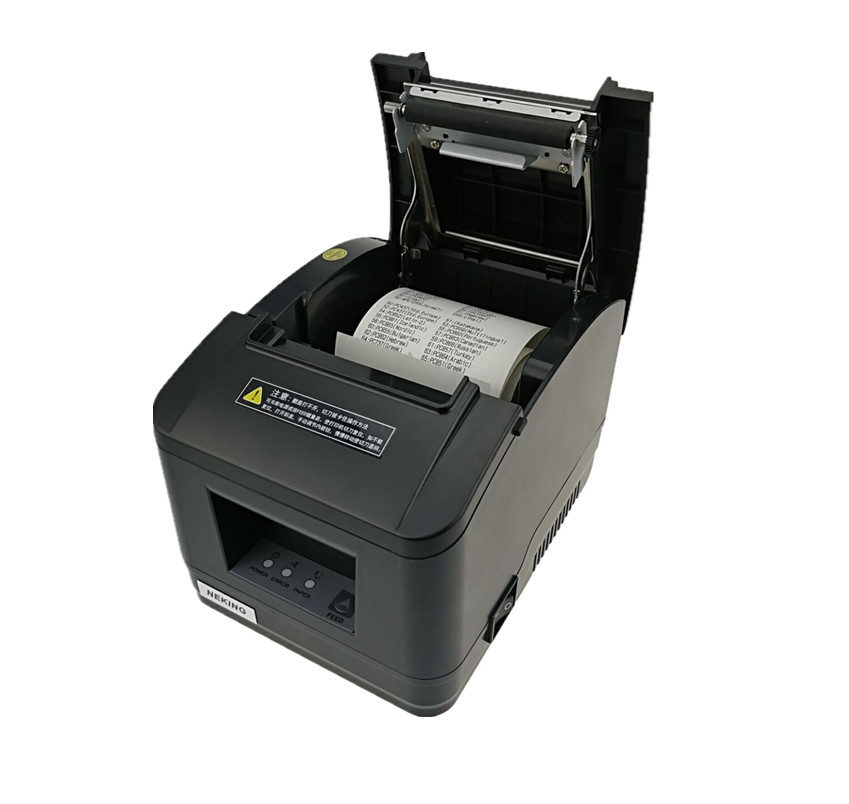 Gift 2 rolls wholesale brand new High quality pos printer 80mm thermal receipt Small ticket barcode printer automatic cutting wholesale brand new 80mm receipt pos printer high quality thermal bill printer automatic cutter usb network port print fast