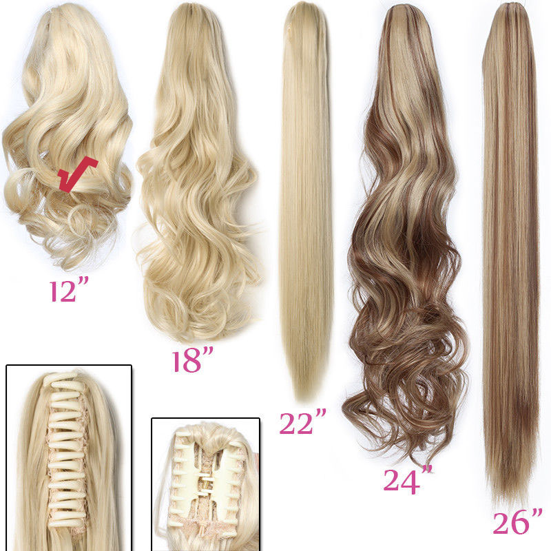 12 Quot Short Wavy Thick Ponytail Hair Extension Claw Anti