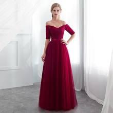 23b67351d4 2019 nueva venta caliente rojo de dama de honor vestidos de satén tul una  línea real azul sin mangas boda Fiesta Vestidos Niña v.