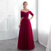 2019 New Hot Sale Red Bridesmaid Dresses Satin Tulle A Line Royal Blue  Sleeveless Wedding Party 87a0bcc5114f