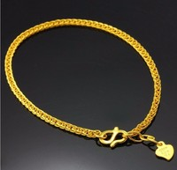 New Pure Solid 24K Yellow Gold Bracelet /Best Wheat Shape Bracelet/ 4.45g