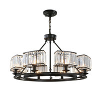 Retro Chandelier Lighting Black Crystal Chandelier K9 Crystal Chandeliers Lighting Fixtures For Dining Room E14 Lamp