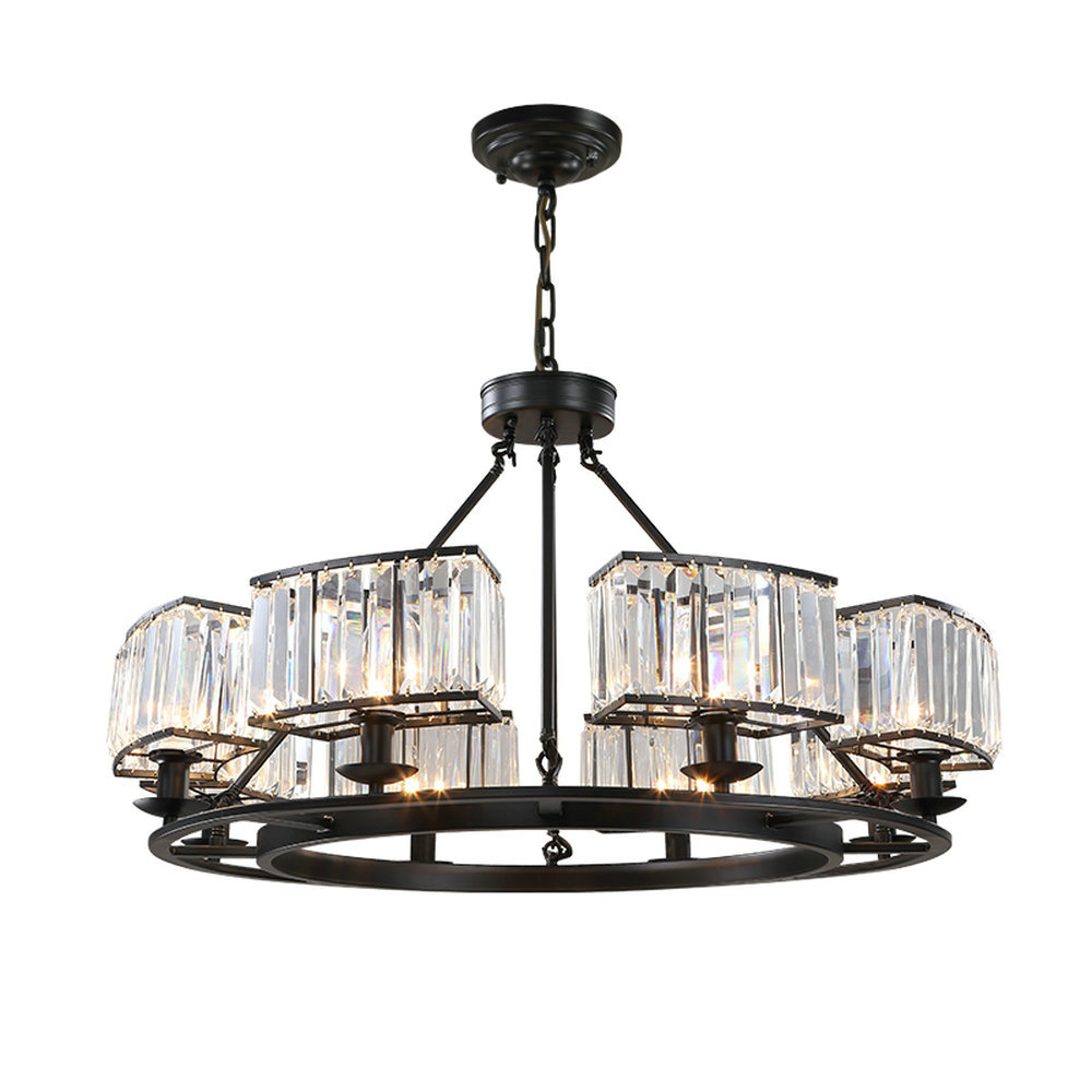 Retro chandelier lighting black crystal chandelier k9 for Black dining room chandelier
