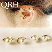 EK803 New Brincos Clip Earing boucle d oreille Bijoux Simulated pearl Ear Cuff Earrings For Women