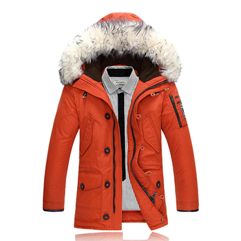 Thick Men Duck Down Coats Winter Jackets Parkas Mans Down Jacket Rabbit Fur Parka Jacket Feminina Clothing Overcoat for Man