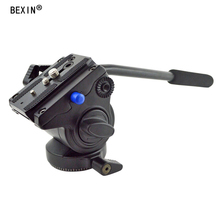 BEXIN VH-10 Tripod Head Handgrip Video Photography Fluid Drag Hydraulic Head with Manfrotto plate for Camera Tripod