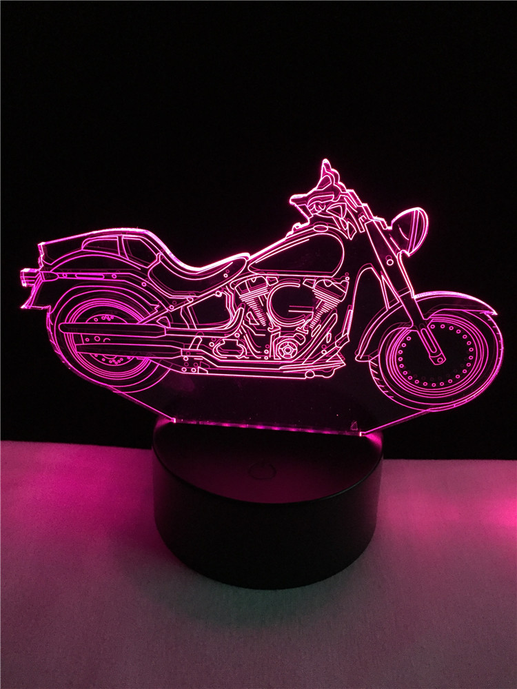 Luzes da Noite motocicleta 3d night light desk Function 4 : Lampada Led/lamparas/led Lamp Indoor