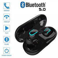 Q13S TWS MINI wireless headphones bluetooth 5.0 noise canceling earphones phone earbuds headset with microphone Charging Case