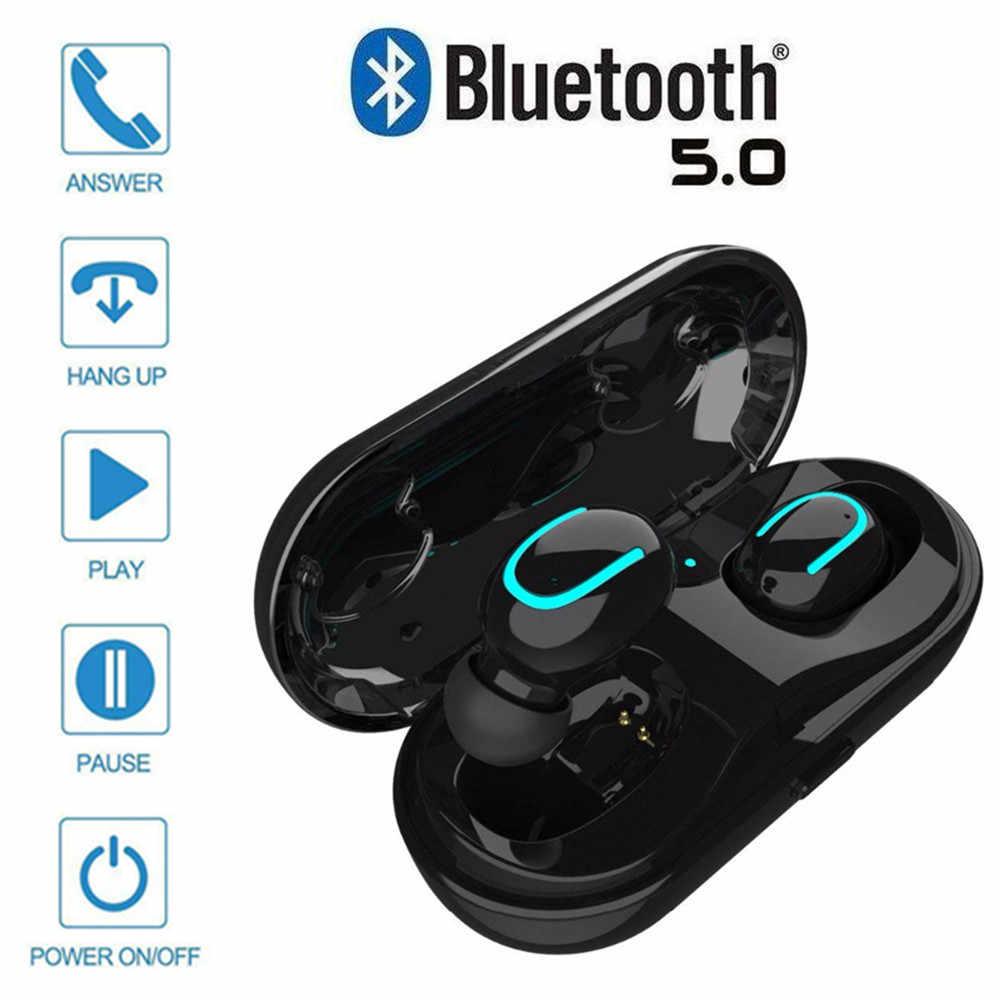 f7a9bc288da Q13S TWS inalámbrica MINI auriculares bluetooth 5,0 de cancelación de ruido  auriculares de teléfono