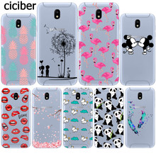 Mickey Mouse Flamingo Panda Transparent Silicone Case Fundas for Samsung Galaxy J3 J5 J7 2017 J330 J530 J730 EU Eurasian Version(China)