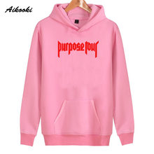 2018 Justin Bieber Hoodies Women/Men Pink Cotton High Quality Harajuku Justin Bieber Women's Hoodies and Sweatshirt Clothes(China)