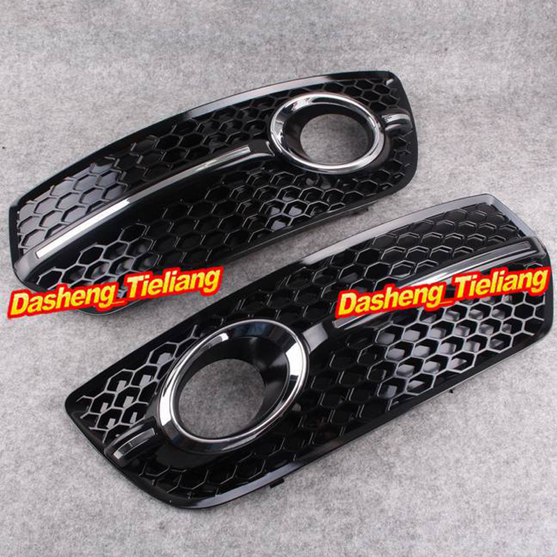 Front Bumper Fog Light Lamp Cover Grills Grille Spare Parts For Audi Q5 Standard 2009-2011 Pair Durable Car AccessoriesFront Bumper Fog Light Lamp Cover Grills Grille Spare Parts For Audi Q5 Standard 2009-2011 Pair Durable Car Accessories