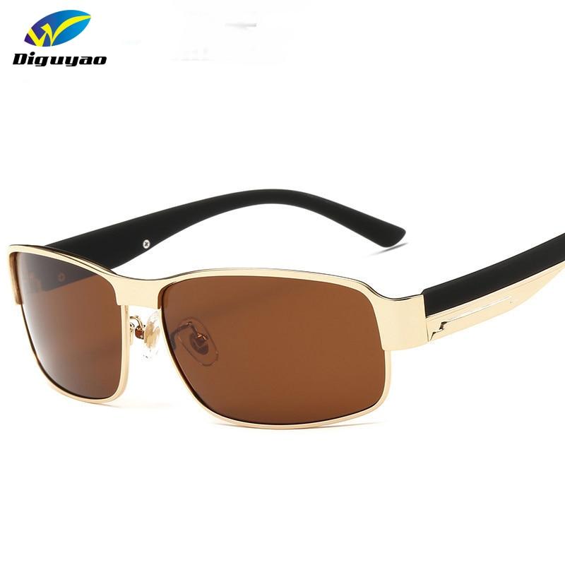 2017 Mode De Luxe En Métal cadre lunettes oculos de sol masculino Marque  Polarisées sport lunettes de Soleil Lunettes de soleil hommes c5b72834808a