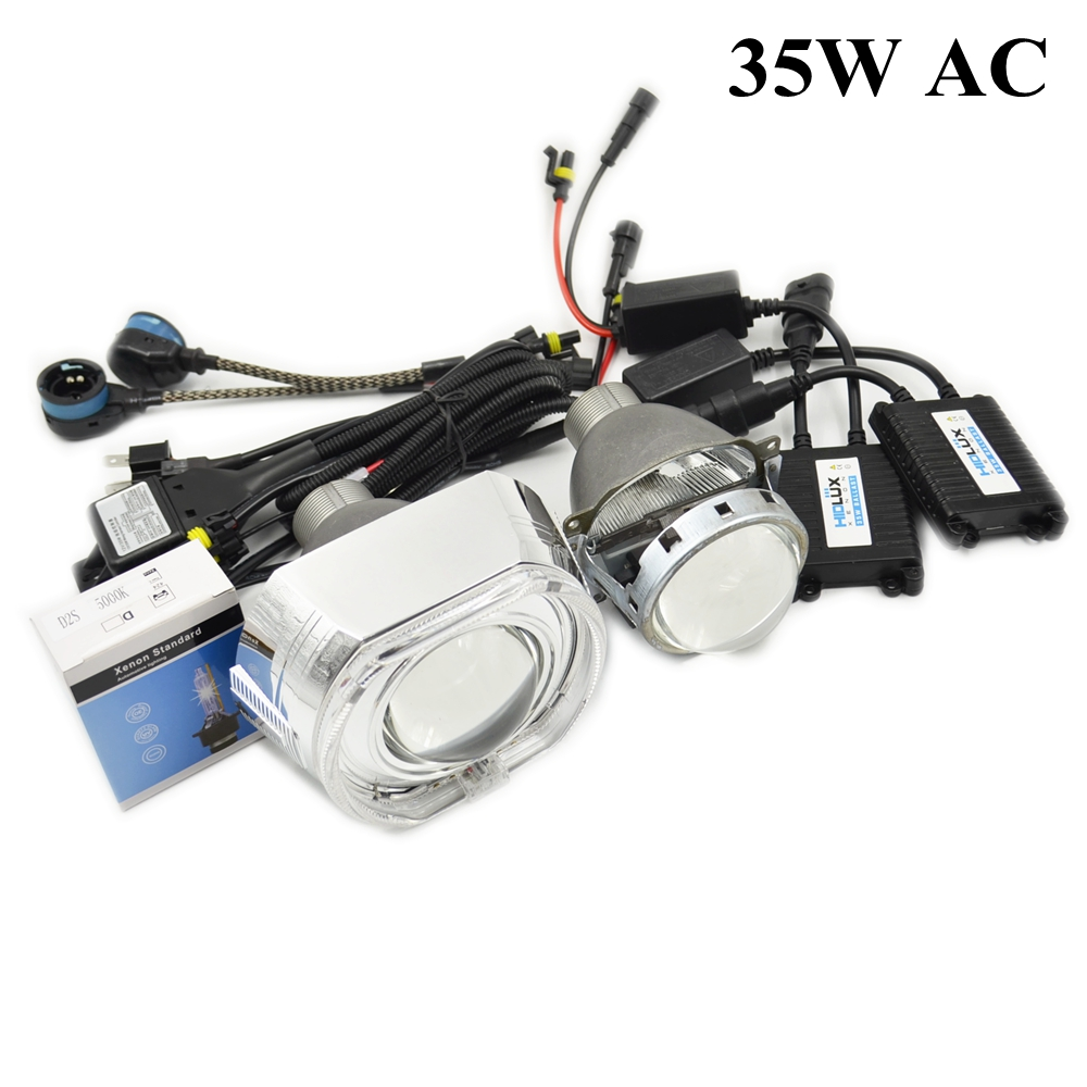 H4Q5 Bi-xenon hid projector lens Car Headlight 3 inch shrouds with d2s xenon bulb kit H4 Easy Install Koito MAX Mask LHD