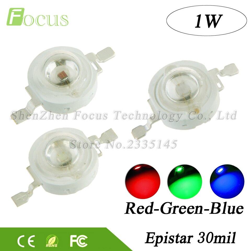 High Power Super Bright 1W Red Green Blue LED Chip 1 Watt COB SMD Diode Bulb Lamp Beads DIY Spotlight Floodlight Stage Lights