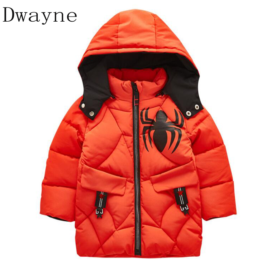 Winter Jackets for Boys Coat Warm Kids Snowsuits Outerwear and Coats Kids Clothes Spider-man Boys Jacket Children Baby 3t 4t 5t