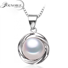 Fashion freshwater pearl pendant jewelry for women,real natural pearl pendant necklace 925 sterling silver girl best gift white double r new design real fashion style natural freshwater pearl pendant for women high quality fine jewelry girl best gift