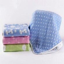 New 2017 1PC Cotton Six Layers Gauze Throw Blankets Super Soft Dot Blanket on bed Children Bedding Set 120*120cm Multicolor все цены