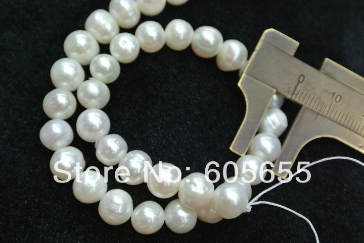 7 8mm White Fresh Water Pearl Round Potato Beads Good Quality