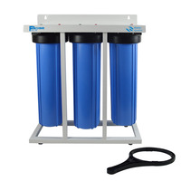 3 Stage High Flow Rate Water Filtration 20 Jumbo Water Filter With Metal Frame 1 Brass