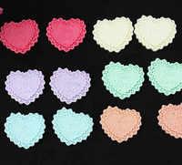 150 Uds. De blondas para Pastel en forma de corazón, cabujón de