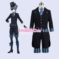 Anime Kuroshitsuji Black Butler 2017 SP the luxury liner figure Ciel Form Suit Cosplay costume Uniform New free shipping