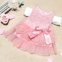 New Stylish Baby Kids Girls Princess Formal Party Tutu Lace Bowknot Flower