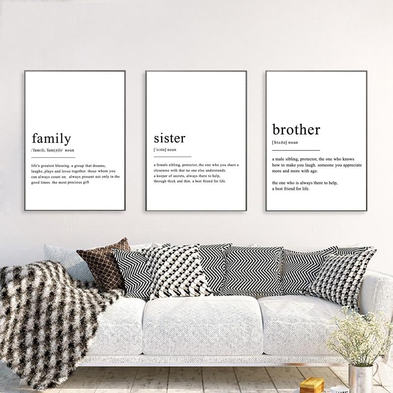 Minimalist Poster Dream Definition Print Home Decor Poster Wall Art