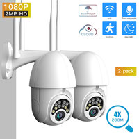 SDETER 1080P PTZ Security Camera IP Outdoor Speed Dome Wireless WIFI Camera CCTV Pan Tilt 4XZoom IR Camera exterior (2 PACK)