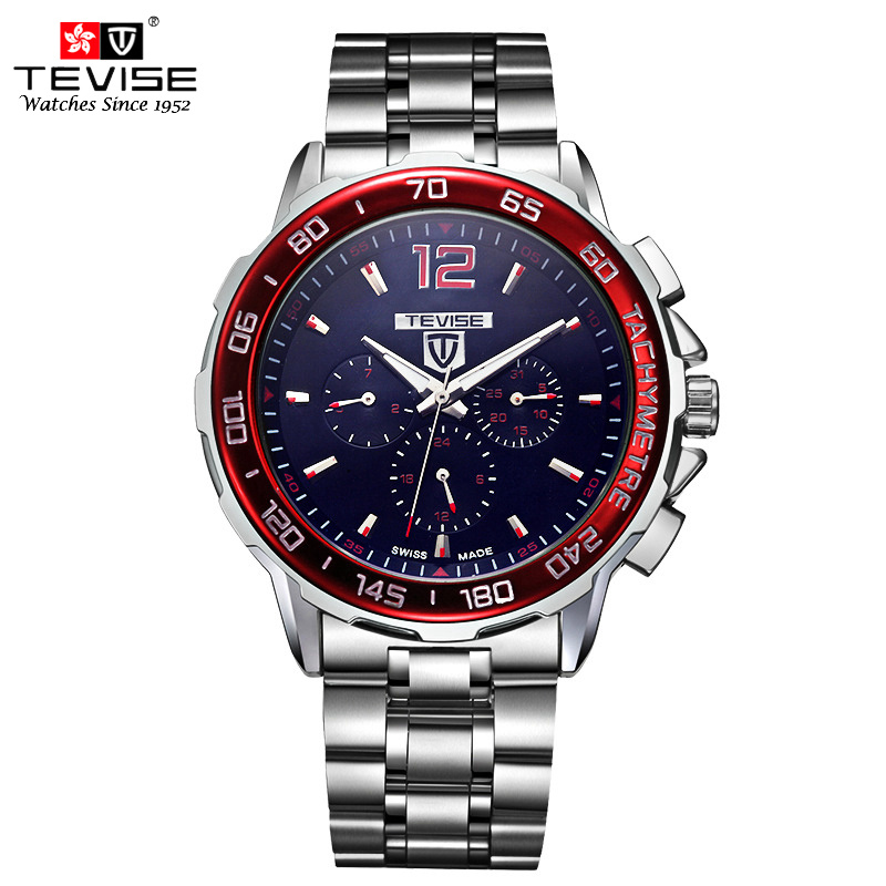 TEVISE Automatic Mechanical Watches Men Self Wind Auto Date Month Week Stainless Steel Luminous Analog Wristwatches 356 alloy bead chain circle drop earrings