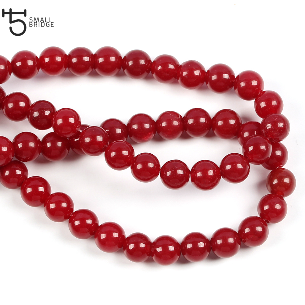 6 8 10mm Austria Natural Red Coral Stone Beads Diy Bracelet Necklace Beads Loose Spacer Stone Beads for jewelry making S009 in Beads from Jewelry Accessories