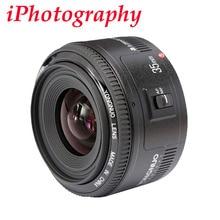 Yongnuo 35mm lente yn35mm f2 lente de gran angular de gran apertura fija de enfoque automático de la lente para canon ef montaje eos cámaras