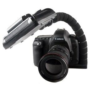 Image 2 - L字型ブラケットフレキシブルアーム一眼レフカメラホットシューマウントアダプターカメラフラッシュledライトブラケットグリップ三脚ホルダー