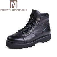 NORTHMARCH Military Tactical Boots Men High Quality Round Toe Desert Combat Ankle Boots Autumn Mens Leather Red Shoes Scarpe