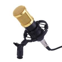 BM-800 Dyna MIC конденсаторный микрофон проводной Микрофон Звук Studio 3.5 мм аудио разъем для Запись комплект KTV караоке с подвесом