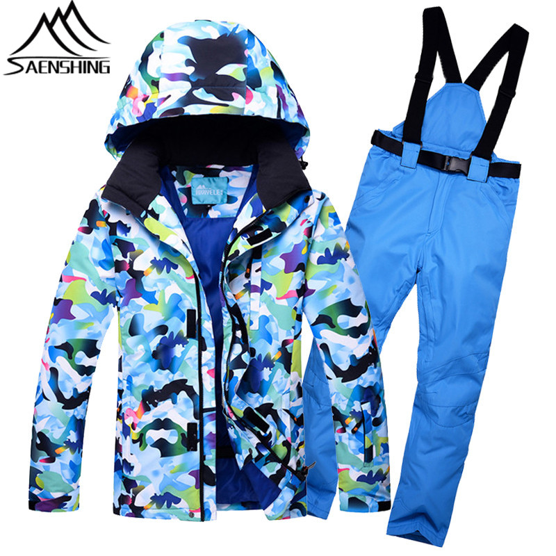 SAENSHING Ski Suit for Men Camouflage Winter Snowboard Suit Waterproof Thicken Ski Suits Male Outdoor Skiing Snowboarding Suits men ski brand snowboard costume skiing suit sets waterproof