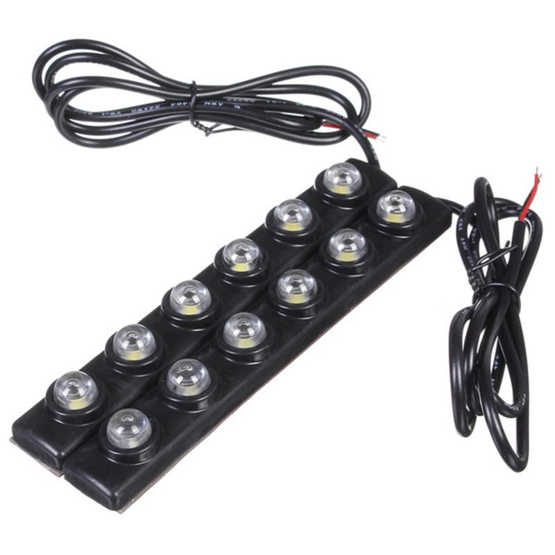 2x 6 LED Soft Strip Daytime Running Light DRL Auto Car Eagle Eye Fog Lamp 12V