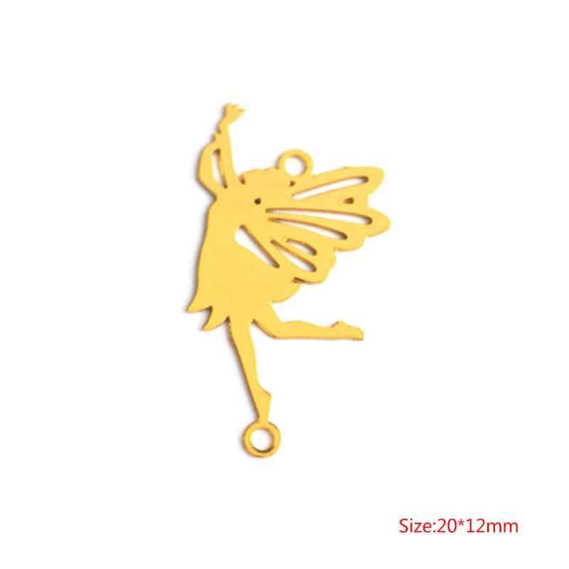 DIY Filler Filling ทองแดงตกแต่งอีพ็อกซี่เรซินแม่พิมพ์เครื่องประดับทำสร้อยคอจี้ Fairy ตกแต่งผู้หญิงบิน