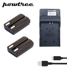 2Packs NP-800 Li-ion Battery 7.4V 800mAh +1Port Charger with LED for Konica Minolta DiMAGE A200  DG-5W, DG5W.