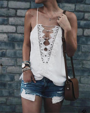 LOHILL New Fashion Sexy Women Camisoles Summer Casual Lace Up Vest Tops Sleeveless Tank Tops T-Shirt