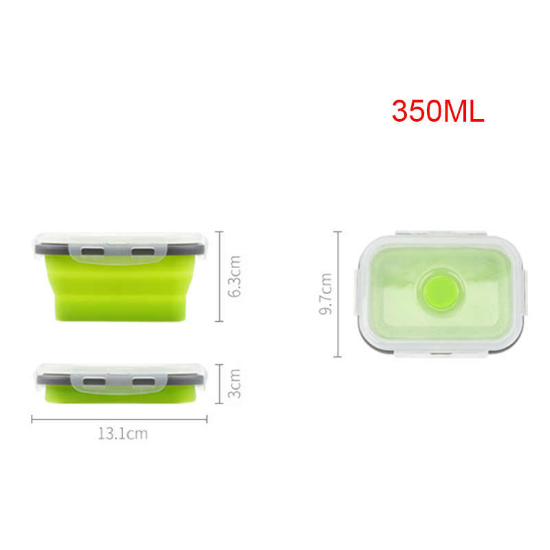 Lunch Box Silicone Bowl Folding Foldable Portable Food Storage Container Eco-Friendly RT99