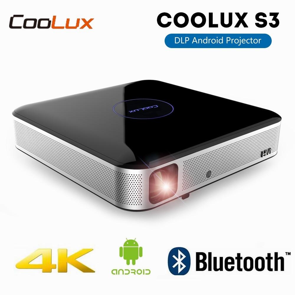Ehrlichkeit Coolux S3 Dlp Projektor Heimkino 3d 4 K Android Projektor Full Hd Wifi Tragbare Mini Pocket Video Proektor Für Telefon Kino Reich An Poetischer Und Bildlicher Pracht