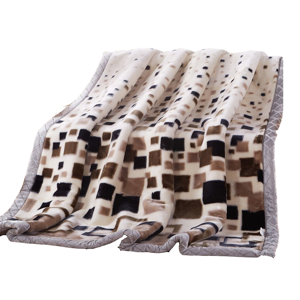 Wholesale Double Ply Raschel Blanket 100% Polyester Long Hair Super Soft Adult Queen King Size Thicken Winter Warm Quilt Blanket super queen hair 100