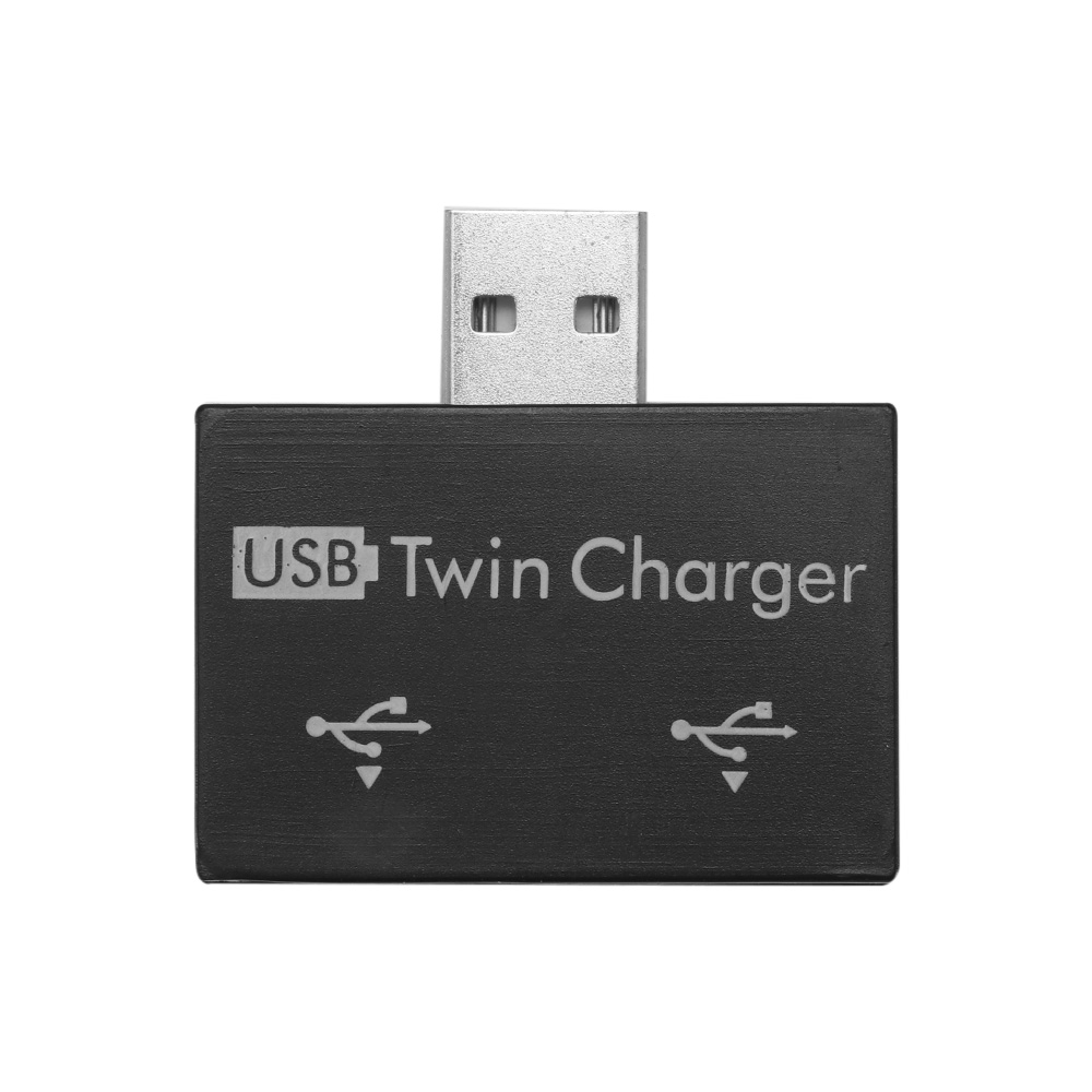 2 Hub Ports Twin Charger Splitter Extender Practical Portable Mini ABS Adapter Professional For Phone Tablet USB Hub Fashion