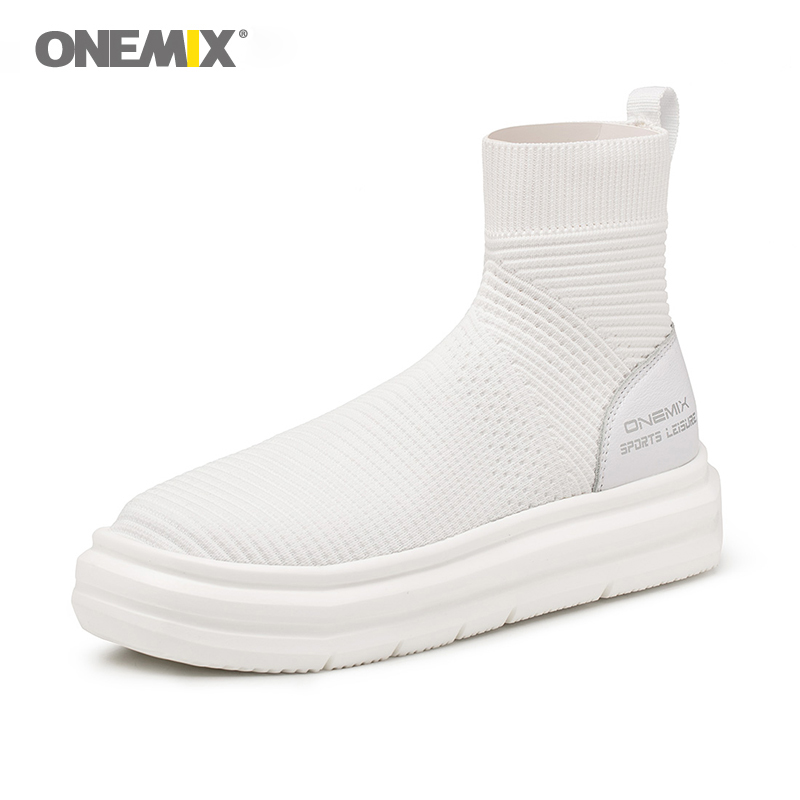 Onemix sock ankle boots for men height increasing walking shoes for women outdoor trekking sneakers autumn winter warm shoes onemix new winter running shoes warm height increasing shoes winter men