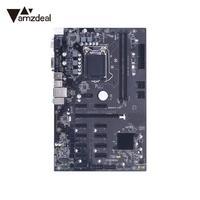 Amzdeal высокое Скорость B250 БТД горной материнская плата stystemboard 12 PCIe DDR4 LGA1151 горные машины Rig Эфириума 12 GPU
