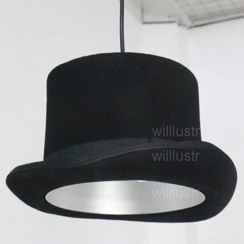 Cappello di feltro di lana fatti a mano leggera di alluminio a sospensione  lampada JEEVES E WOOSTER cap volante couture panno negozio dell hotel di ... ae7db23ae8c7