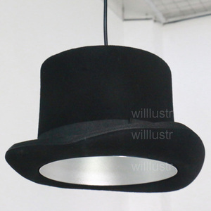 Image 2 - Wool Felt Hat Pendant Light Handmade Aluminum Suspension Lamp JEEVES AND WOOSTER Cap Hanging Lighting Hotel Couture Cloth Shop