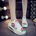 2017 Весна Осень Новый Китайский Старый Пекин Вышивка обувь Туризм вышитые Цветочные одноместный прогулки танцевальная обувь