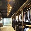 Светодиодный потолочный светильник в стиле ар деко  современная Имитация дерева  светильник для магазина одежды  кофейни  потолочный свети...
